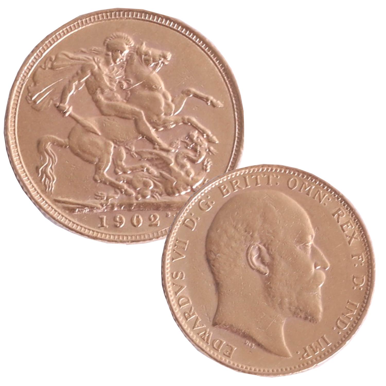 Lot 012 - Edward VII 1902 gold sovereign.