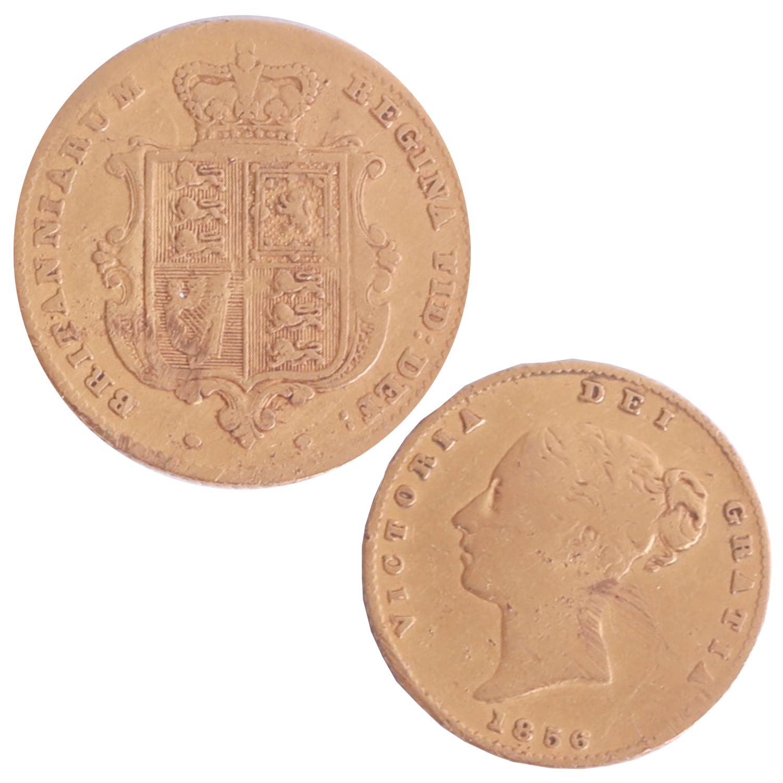 Lot 029 - Victoria 1856 half sovereign.