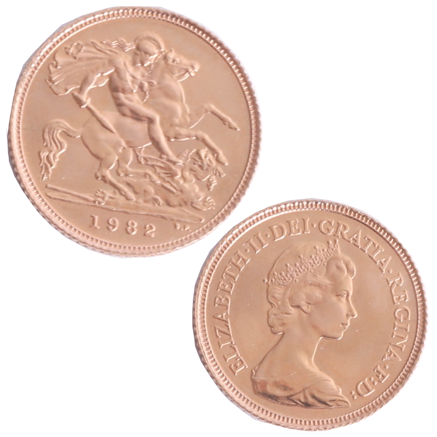 Lot 042 - Queen Elizabeth II 1982, half sovereign.