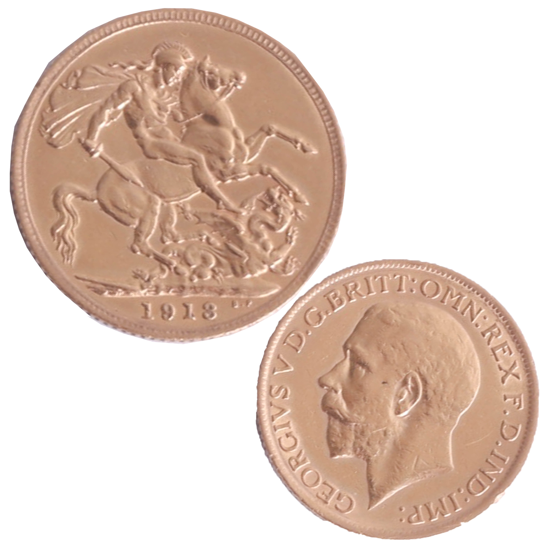 Lot 018 - Geo V 1913 gold sovereign.
