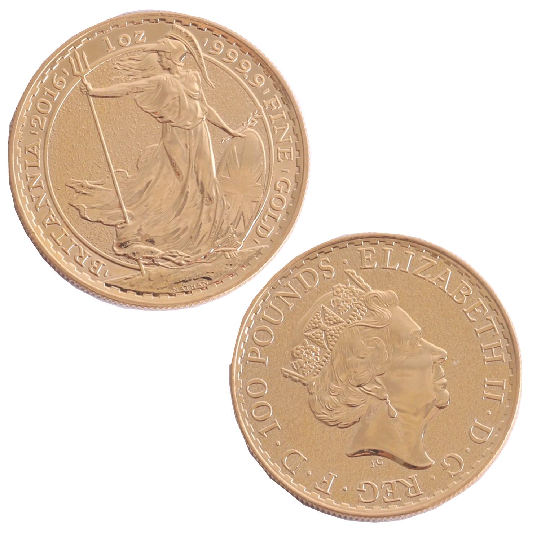 Lot 047 - A 2016 Britannia 1oz gold coin.