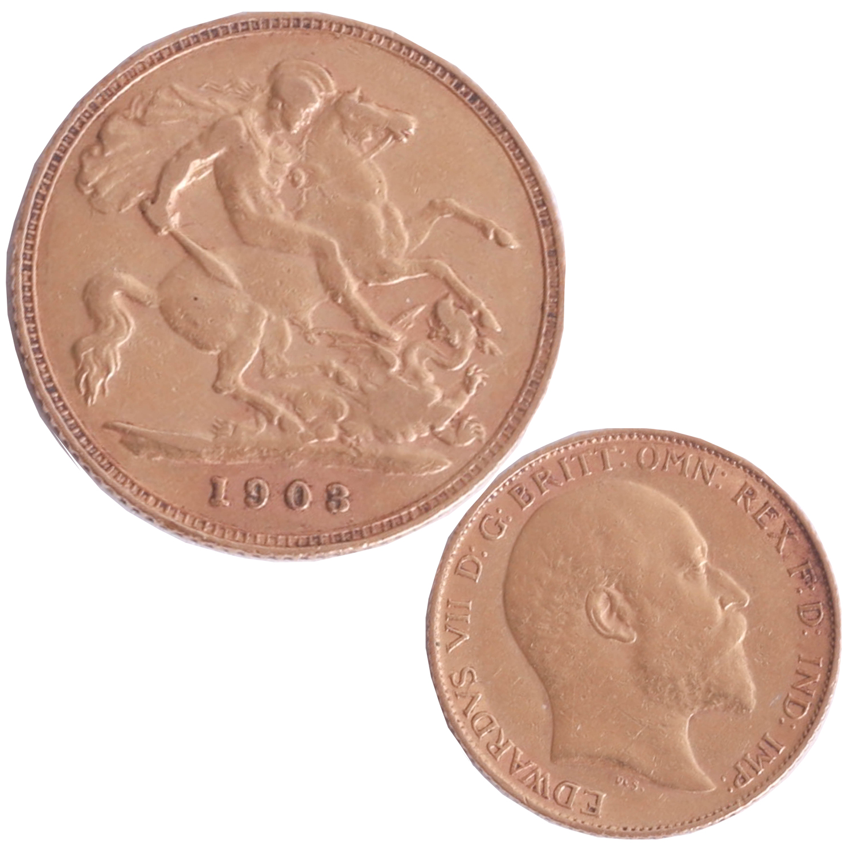 Lot 033 - Edward VII 1903 half sovereign.