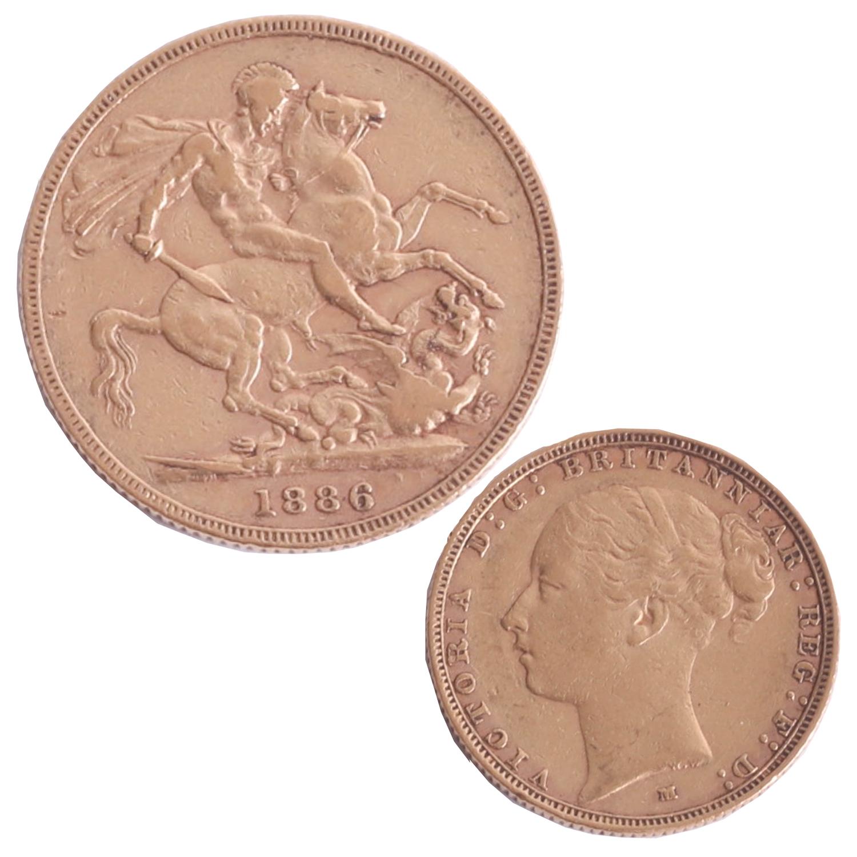 Lot 006 - Victoria 1886 gold sovereign (M Melbourne).
