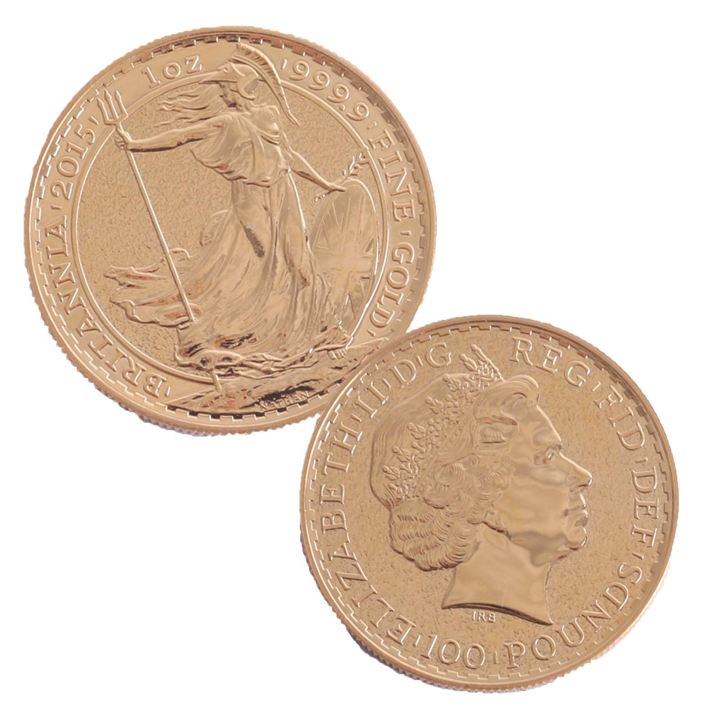 Lot 048 - A 2015 Britannia 1oz gold coin.