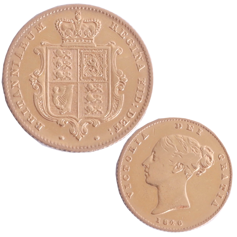 Lot 028 - Victoria 1846 half sovereign.