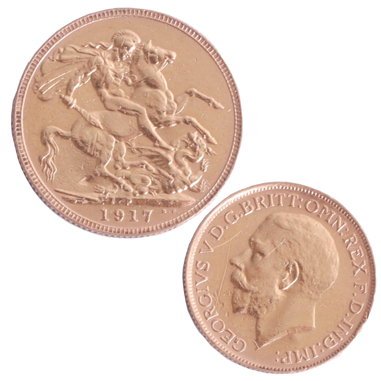 Lot 019 - Geo V 1917 gold sovereign (P Perth).