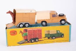 Corgi Toys, Gift Set no. 2,Land Rover with Rice's Pony Trailer and Pony, boxed.