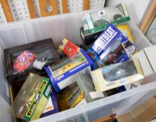A mixed collection of boxed diecast models including Eddie Stobart, Corgi, Mini Cooper Gift Set,