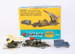 Corgi Toys, Gift Set no. 4, Bristol Bloodhound Guided Missile with Ramp, boxed.