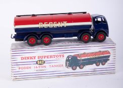 Dinky Super Toys, Foden 14 ton Tanker, (Regent) 942, boxed, (probably a repaint with a replica box).