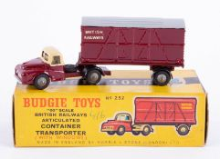 Budgie Toys, Container Transporter, boxed.