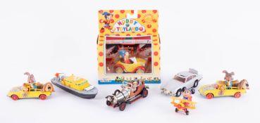 Two Corgi Toys, Magic Roundabout, Dinky, Air Sea Launch, Corgi, Chitty Chitty Bang Bang and other