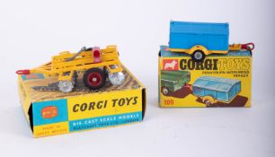 Corgi Toys, Pennyburn Workmen's Trailer 109, Tandem Disc Harrow 71, boxed (2).