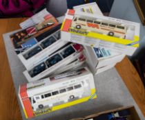 Joal, two compact diecast coach models, also Lledo RAF sets, Fire Engines etc, boxed (10).