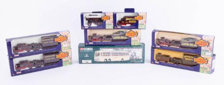 Days Gone Showman's, seven models and a Corgi Classics Bedford Coach 35305, boxed (8).