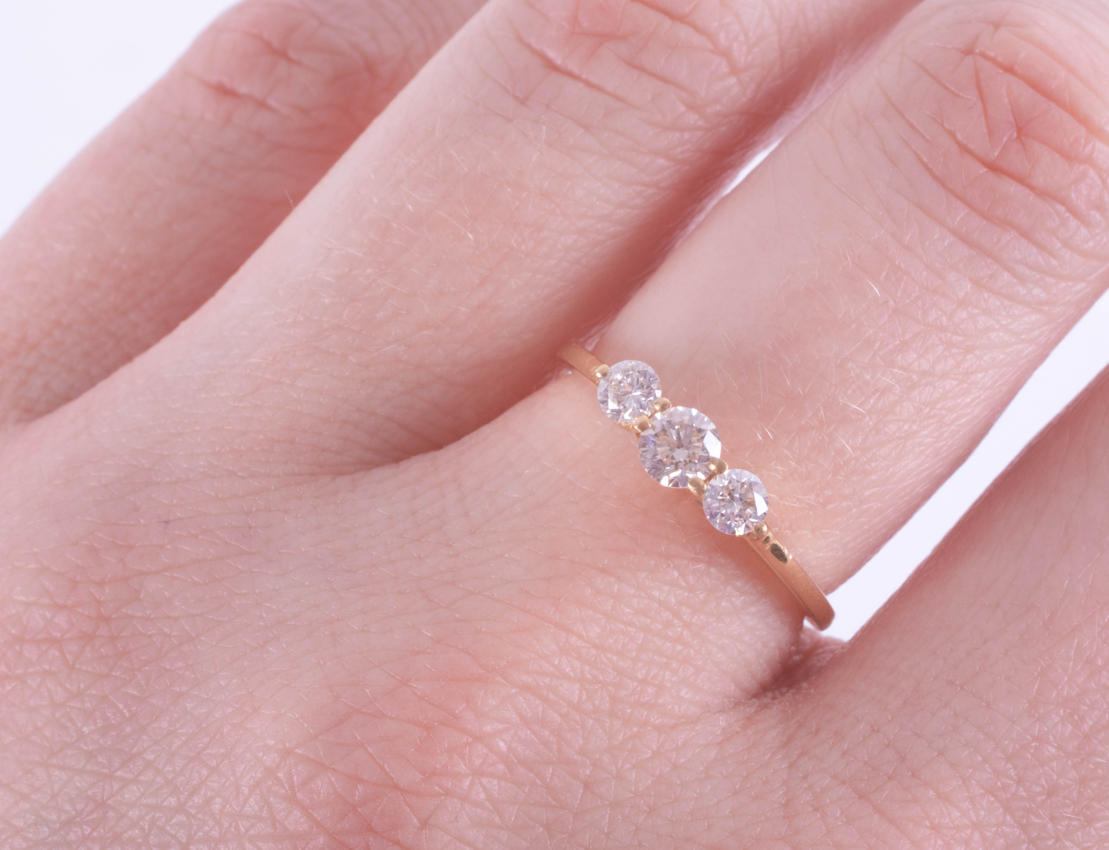 An 18ct yellow gold trilogy ring approx. 0.50ct, estimated colour and clarity E/SI1, ring size M. - Image 2 of 2