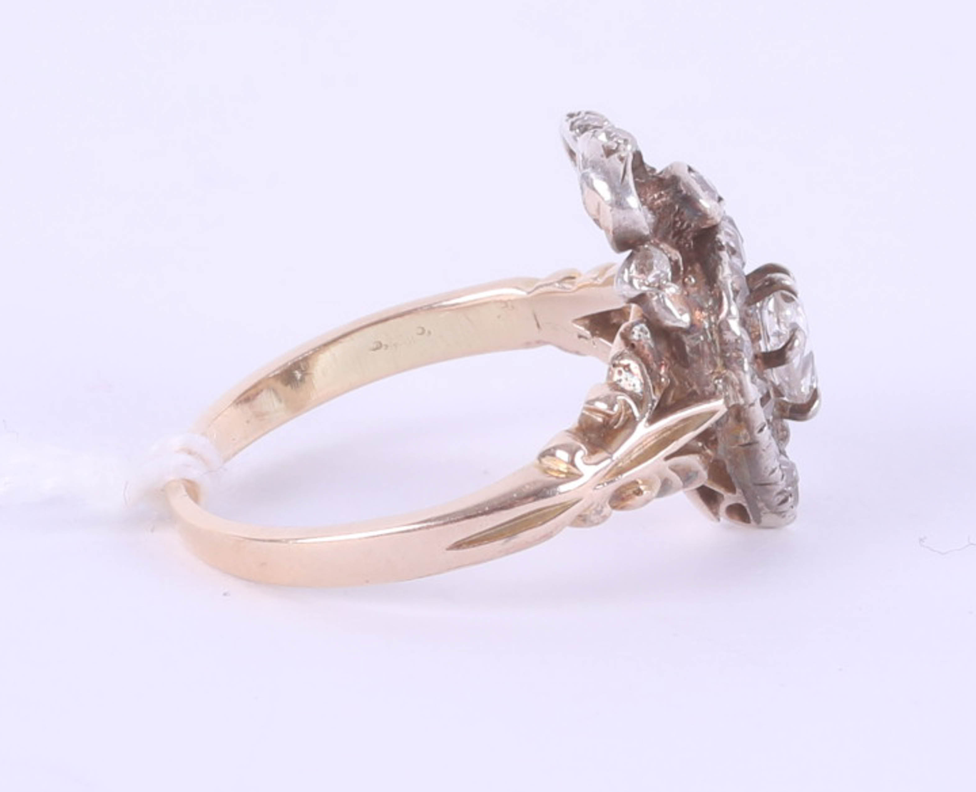 A Victorian diamond set heart ring, size J, boxed. - Image 4 of 6