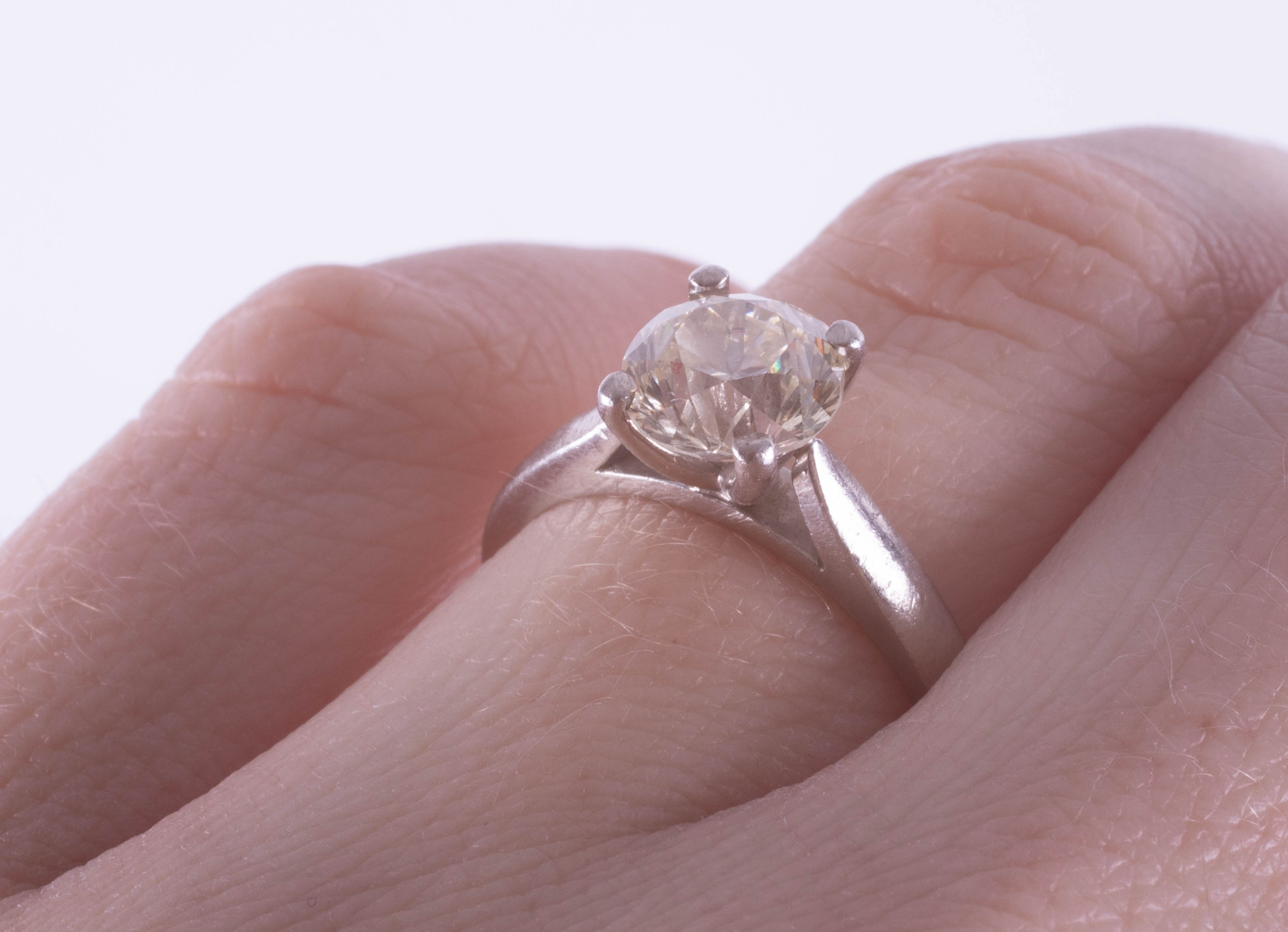 A diamond solitaire ring, approximately 1.90ct, set in platinum, size J, with copy of 2015 insurance - Image 9 of 9