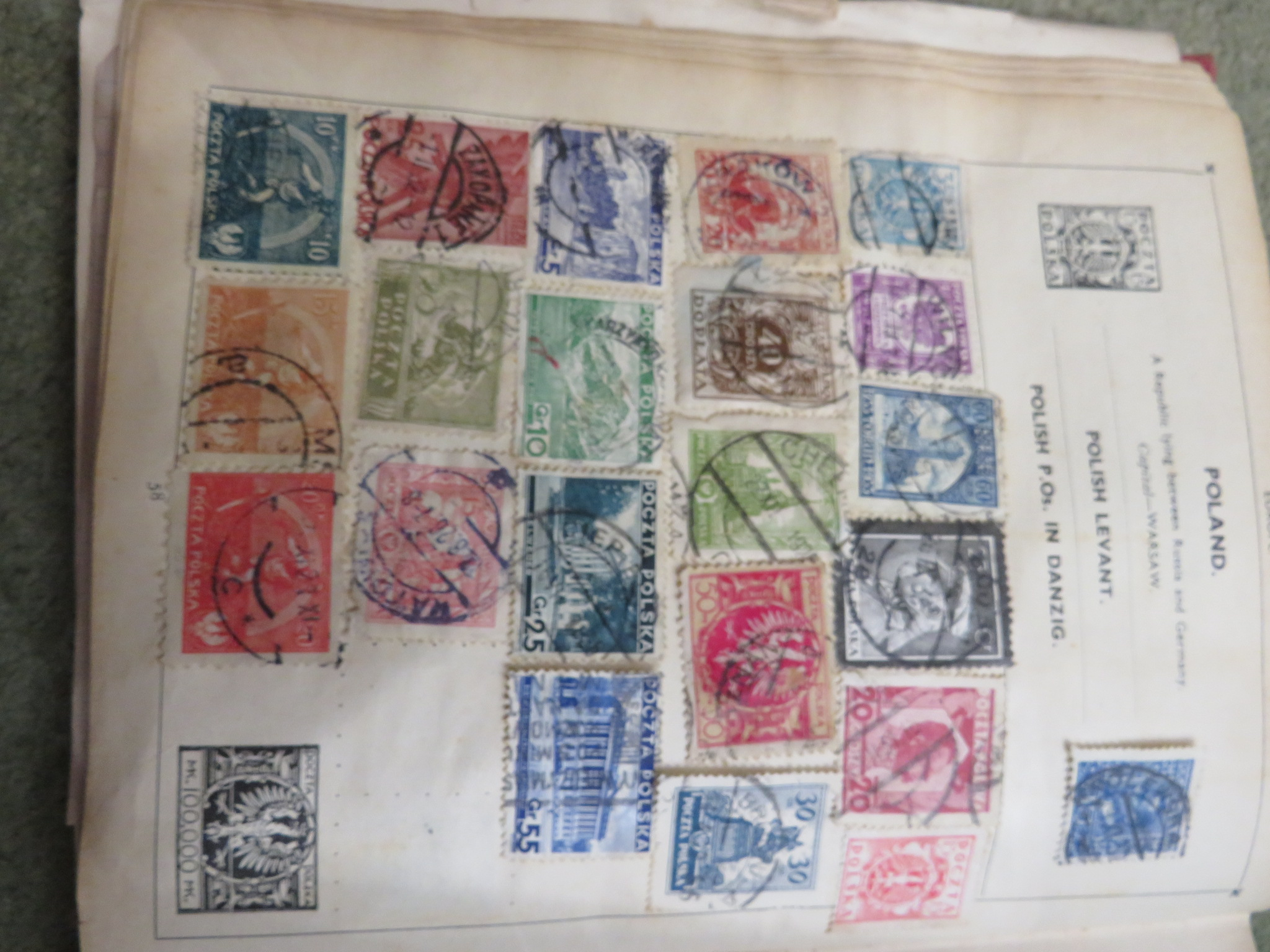 BLUE ZENITH STAMP ALBUM AND RED IMPROVED POSTAGE STAMP ALBUM WITH CONTENTS, TOGETHER WITH COVERS AND - Image 5 of 5