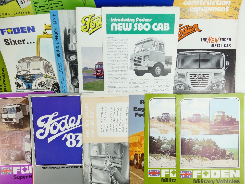 Lot 1043 - A collection of Foden Commercial Vehicle Ephemera: Sourced from a Company Master Engineer to