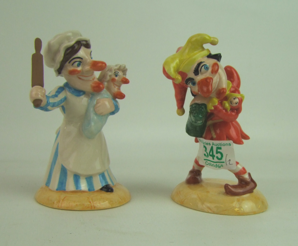 Lot 345 - Boxed Beswick ware figures Punch and Judy(2):