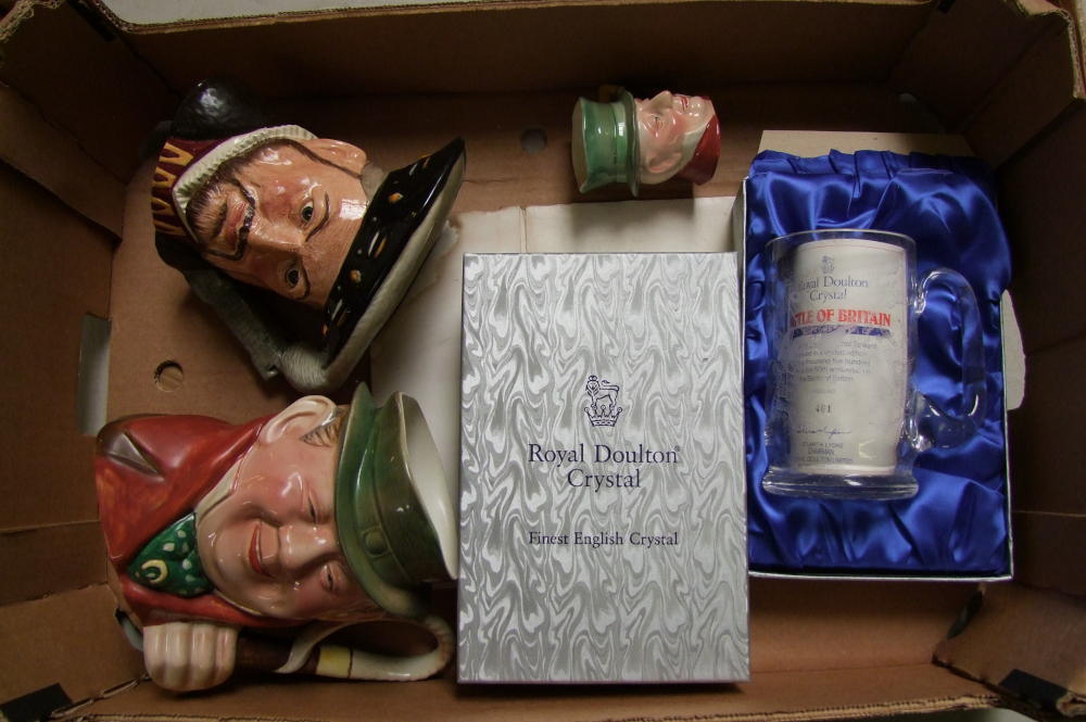 Lot 47A - A mixed collection of items to include: Royal Doulton Large character jug Henry VIII (seconds),