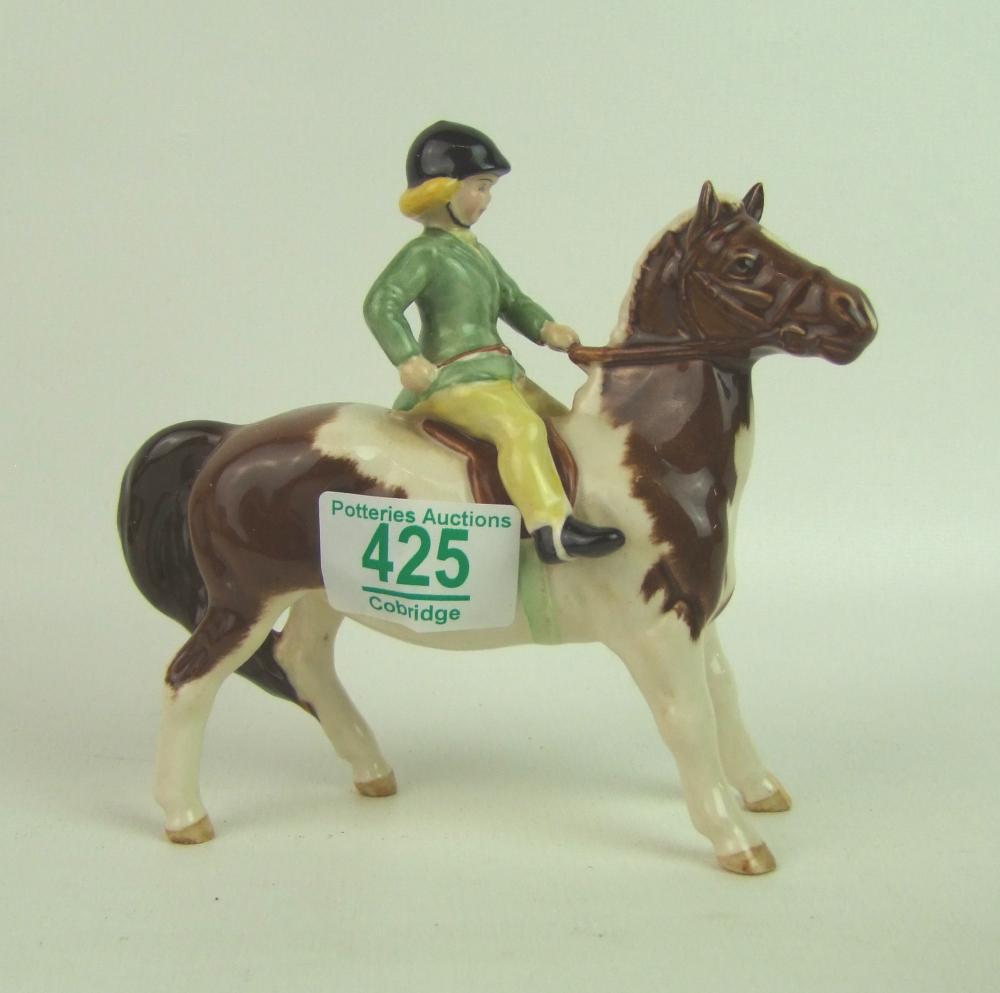 Lot 425 - Beswick girl on pony: 1499.