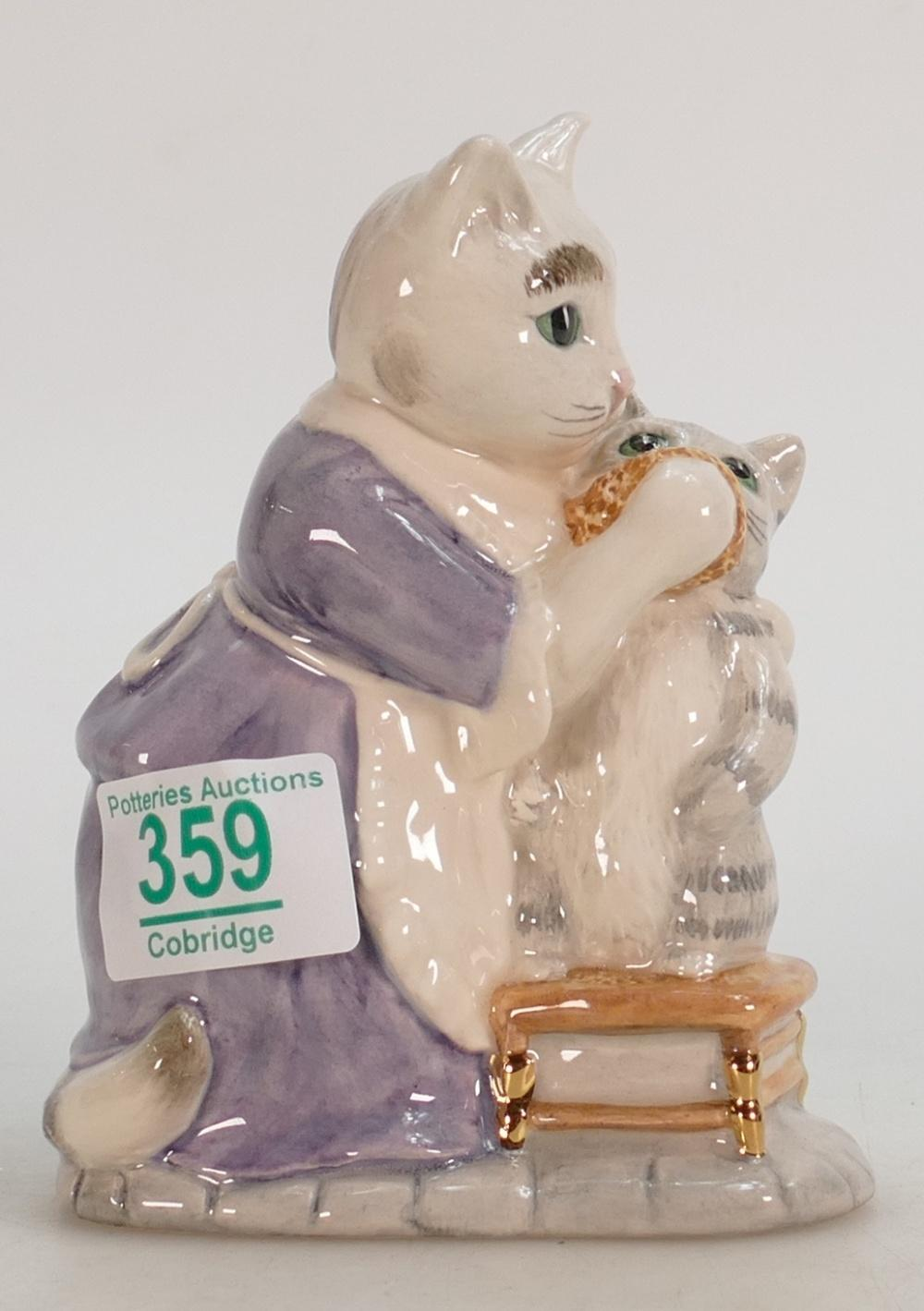 Lot 359 - Beswick Tabitha Twitchit and Moppet limited edition figure: large with gold highlights: