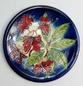 Moorcroft Simeon charger: Designed by Phillip Gibson. Diameter 35.5cm with box.