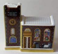 Royal Crown Derby paperweight CHRISTMAS CHURCH (Goviers) 210/500: NO stopper, NO certificate,