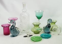 A collection of Art Glass and similar items to include: Cases,