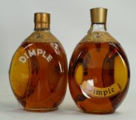 Two bottles of Dimple Whisky: 70% proof. Still sealed.
