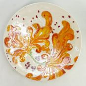 Lise B Moorcroft hand painted Poole dish: Done at Poole pottery in 2000 as an experiment.
