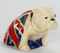 Royal Doulton miniature Bulldog draped with Union Jack: Height 6cm.