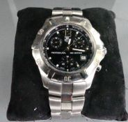 Tag Heuer Professional 2000 series Quartz stainless steel wristwatch: With stainless steel bracelet,