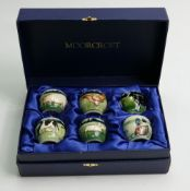 Moorcroft boxed set of six Egg cups: With farmyard designs in lined presentation box.