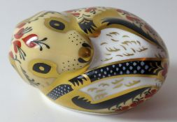 Royal Crown Derby paperweight COUNTRY MOUSE: Gold stopper, NO certificate, first quality,