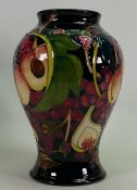 Moorcroft Queens Choice vase: Designed by Emma Bossons, height 23cm.