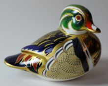 Royal Crown Derby paperweights CAROLINA DUCK Gold stopper, NO certificate, first quality,
