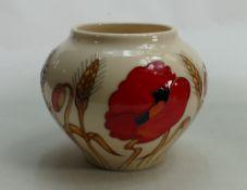 Moorcroft Harvest Poppy vase: Designed by Emma Bossons, height 10cm.