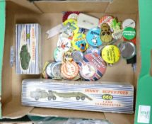 A collection of items to include: Boxed Dinky Toys 660 Mighty Antar Tank Transporter and Dinky
