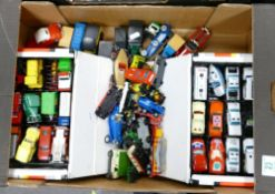 A large collection of Matchbox and similar Model toy cars & Vehicles: