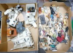 A Large Collection of Star Wars Figures & Models: Kenner Vehicles noted along with LfL Hong Kong &