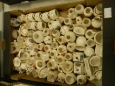 A large collection of W H Goss crested china: Approx 80