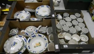 A very large collection of Johnson Bros Jack's Farm patterned tea and dinner ware: to include