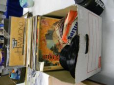 A collection of easy listening records to include: Cliff Richards, Glen Miller, classic rock, Status