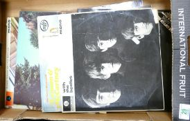 A collection of Records including Beatles to include Parlophone With The Beatles, Parlophone