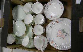 A mixed collection of items to include: Royal Crown pottery and Royal Stafford tea ware