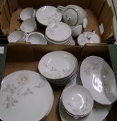 Noritake Melrose tea set and dinner ware: to include 8 dinner plates, 8 bowls, 8 dipping bowls, 8
