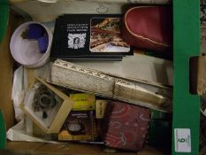 A mixed collection of items to include: lace fan, theatre related items, costume jewellery etc